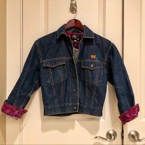 """Vintage """"Sakura"""" cropped Japanese denim jacket"""
